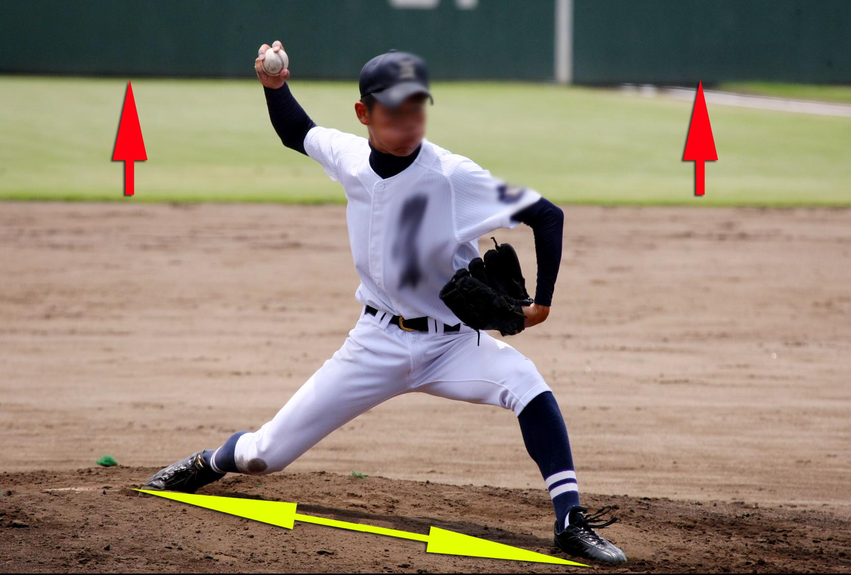 高校野球投手説明画像